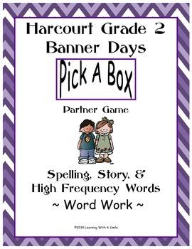 Harcourt Banner Days Second Grade Spelling, Story, HF Words: Partner Game