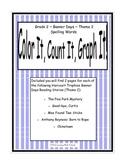 Harcourt Banner Days (Theme 2)  Grade 2 Spelling ~ Color It, Count It, Graph It!