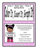 Harcourt Banner Days Grade 2 Spelling (Theme 3)  ~ Color It, Count It, Graph It!
