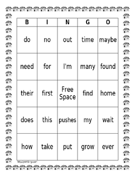 Harcourt Collections Theme I Bingo Cards