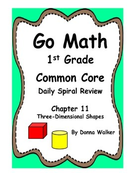 Harcourt Go Math Common Core Daily Spiral Review for 1st Grade - Chapter 11