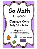 Harcourt Go Math Common Core Daily Spiral Review for 1st Grade - Chapter 12