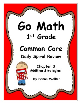 Harcourt Go Math Common Core Daily Spiral Review for 1st Grade - Chapter 3