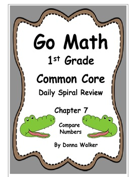 Harcourt Go Math Common Core Daily Spiral Review for 1st Grade - Chapter 7