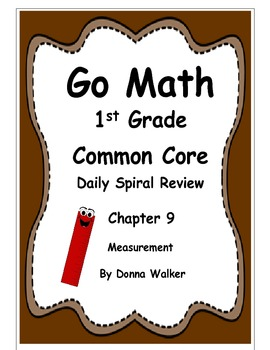 Harcourt Go Math Common Core Daily Spiral Review for 1st Grade - Chapter 9