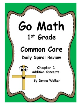 Harcourt Go Math Common Core Daily Spiral Review  for 1st Grade - Chapter 1
