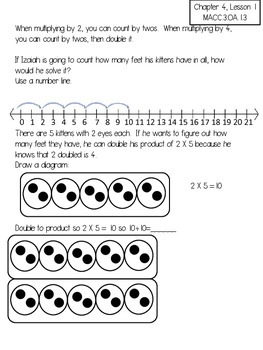 Harcourt Go Math Review Worksheets for 3rd Grade-Chapter 4
