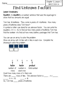 Harcourt Go Math Review Worksheets for 3rd Grade-Chapter 5