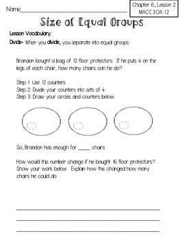 harcourt go math review worksheets for 3rd grade chapter 6 tpt. Black Bedroom Furniture Sets. Home Design Ideas
