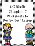 Harcourt Go Math Review Worksheets for 3rd Grade-Chapter 7