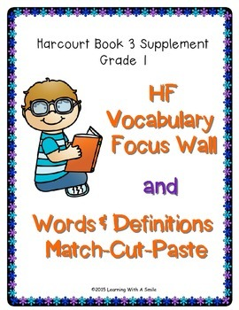 Harcourt Trophies FIRST GRADE Book 3 High-Frequency Focus
