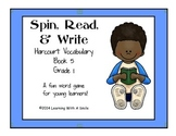 Harcourt Trophies First Grade Vocabulary Game (Book 5) Spin, Read, & Write