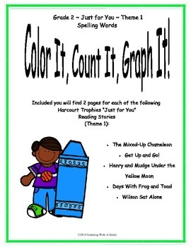 Harcourt Reading SECOND GRADE Just for You- Theme 1: Color, Count, Graph It!