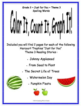 Harcourt SECOND GRADE Theme 3 (Just for You) Color, Count, Graph It!