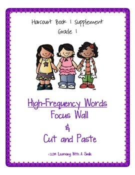 Harcourt Grade 1 ~ Book 1: Guess Who? ~ High-Frequency Focus Walls/Cut and Paste