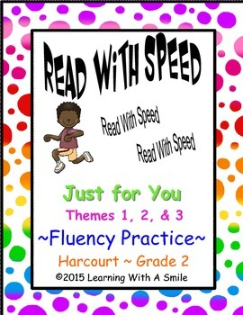 Harcourt  GRADE 2 Fluency Practice: Read With Speed~ Just for You
