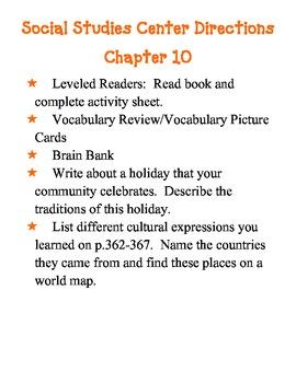 Harcourt Grade 3 Social Studies Our Communities Center Directions