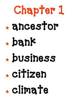 Harcourt Grade 3 Social Studies Our Communities Vocabulary