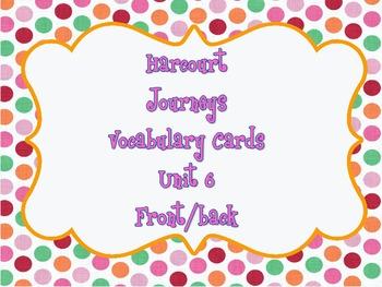 Harcourt : Journeys (1st Grade) Vocabulary Cards Unit 6