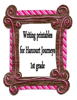 Harcourt Journeys - 1st Grade - Writing Printables