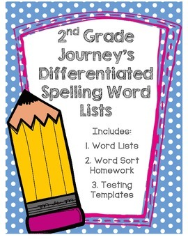 Journeys 2nd Grade Spelling Lists