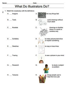 Harcourt Journey's 3rd Grade Bundle- Unit 2 Lesson 7-What do Illustrator's Do?