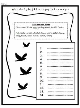 Harcourt Journey's (2014) 3rd Grade Bundle - Unit 2 Lesson 8-The Harvest Birds