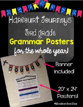 Harcourt Journeys 3rd Grade GRAMMAR POSTERS for the YEAR!