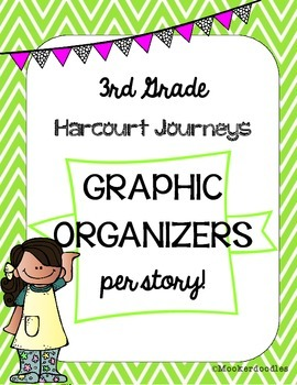 Harcourt Journeys 3rd Grade Story Strategy Graphic Organizers for EACH story!