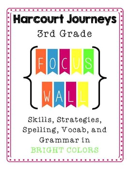 Harcourt Journeys 3rd grade Focus walls for the WHOLE YEAR! {bundle and save!}