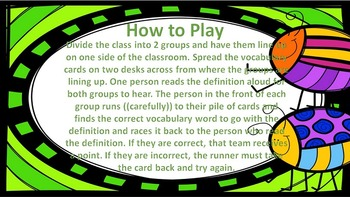 """Harcourt Journeys 4th Grade My Brother Martin Vocab """"Where Is It?"""" Game"""
