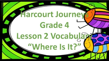 "Harcourt Journeys 4th Grade My Brother Martin Vocab ""Where Is It?"" Game"