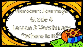 """Harcourt Journeys 4th Grade My Librarian is a Camel Vocab """"Where Is It?"""" Game"""