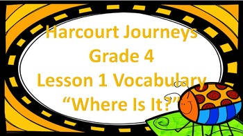 "Harcourt Journeys 4th Grade Because of Winn-Dixie Vocab ""Where Is It?"" Game"