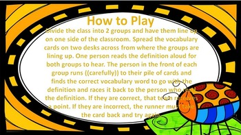 """Harcourt Journeys 4th Grade Because of Winn-Dixie Vocab """"Where Is It?"""" Game"""