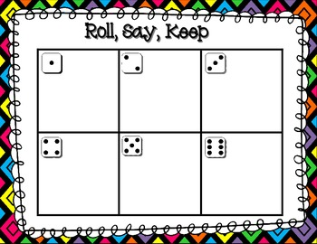 Journeys 2012 High Frequency Word (Sight Word) Roll, Say, Keep