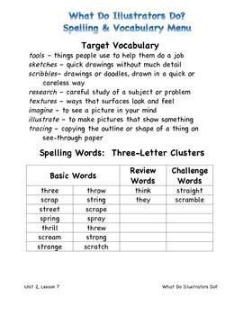 Harcourt Journeys 2011 Grade 3 Unit 2 Spelling & Vocab Lists