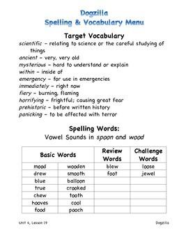 Harcourt Journeys 2011 Grade 3 Unit 4 Spelling & Vocabulary Lists