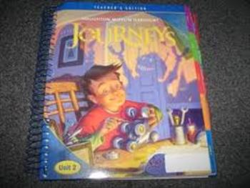 Harcourt Journey's Grade 4 Unit 1-4  Vocabulary/Spelling Lists
