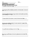 Harcourt Journeys Grade 5 (2012) Unit 3 Story 2 Comprehens