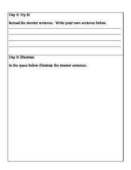 Harcourt Journeys Mentor Sentences 2nd grade