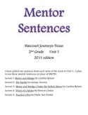 Harcourt Journeys Mentor Sentences 2nd grade Unit 1