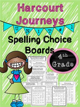 Harcourt Journeys Spelling