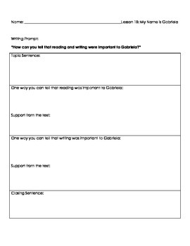 Harcourt Journeys Unit 4 Writing Prompts and Graphic Organizers