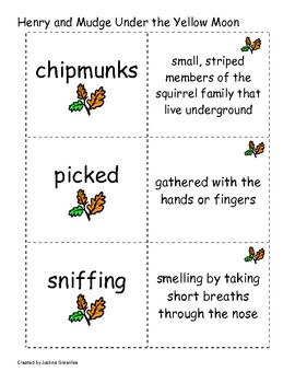 Harcourt Just for You Theme: 1 Being Me Vocabulary Cards