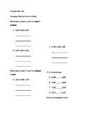 Harcourt Math 3rd grade Ch.3 Test, Compare,Order and Round