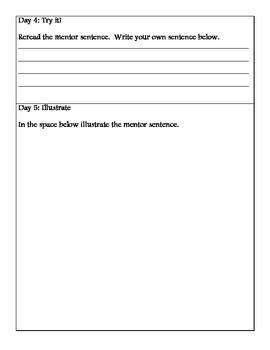 Harcourt Mentor Sentences Second Grade Unit 2