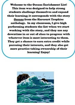 Harcourt Oceans Enrichment