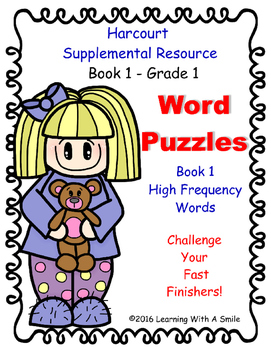 Harcourt Reading Grade 1WORD PUZZLES ~ High Frequency Challenge