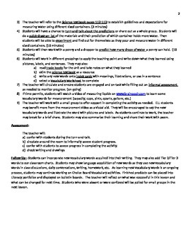 Harcourt Science NYC Grade 1 Unit 3 Lesson 4 lesson plan Observing Solids